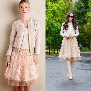 Anthropologie Fluttered Fete Midi Dress